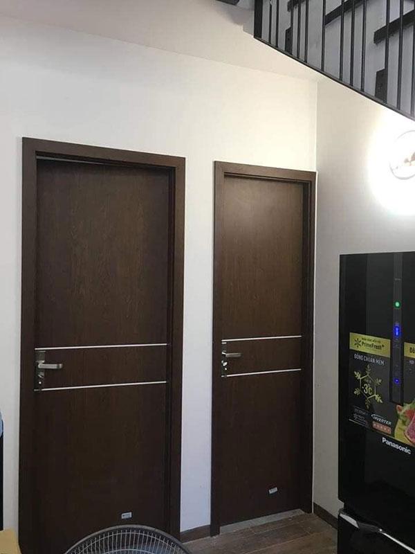 cửa nhựa vân gỗ chính hãng tại quảng ninh