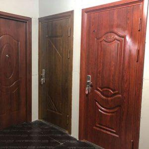 sửa chữa cửa thép vân gỗ hải phòng