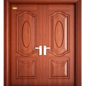 cửa thép vân gỗ cánh đôi 2h5
